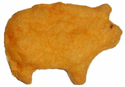 A Cheesy Orange Pig
