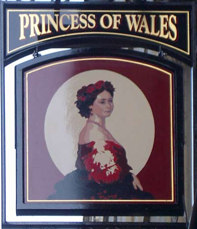 Dowdy Victorian Princess on pub sign