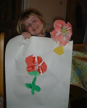Marianne has painted an amaryllis