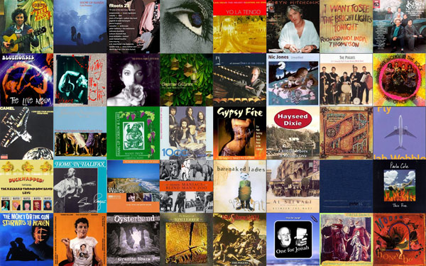 a collage of tiny album covers. I own 31 of these albums on CD;