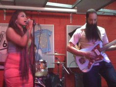 Phone pic of some of Dengue Fever at Pure Groove